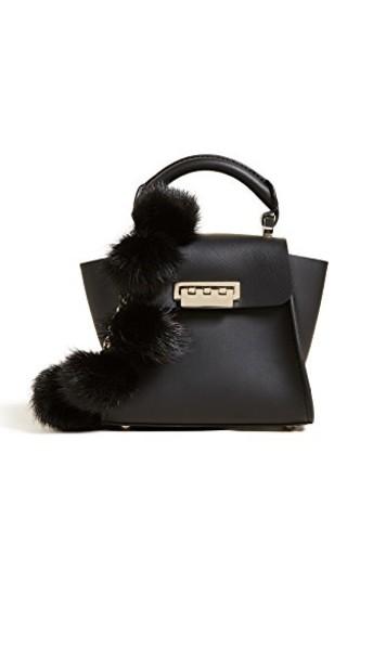 ZAC Zac Posen top mini fur black