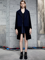 dress,blue,sandro,fashion,lookbook,coat