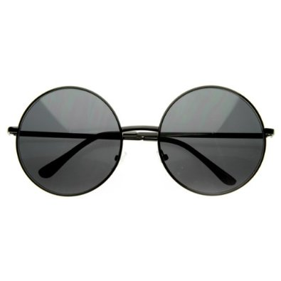 Amazon.com: Designer Inspired Super Large Oversized Metal Round Circle Sunglasses: Shoes