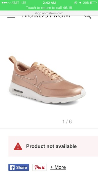 shoes rose gold nike nike air nike running shoes nike air max thea