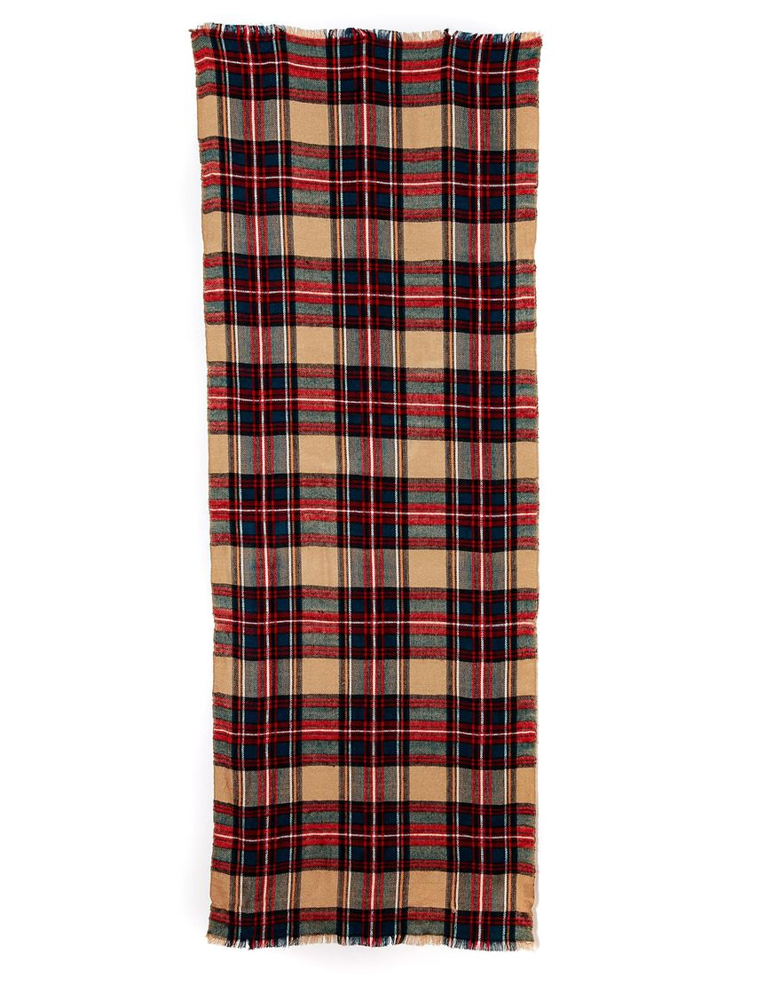 ASOS Camel Check Scarf at asos.com