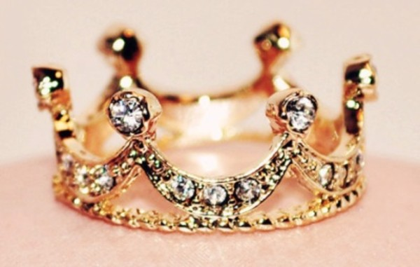 jewels gold crown ring princess ring diamonds crown princess ring jewelry