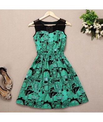 dress green black zombie skater dress cute pastel goth grunge goth halloween alien weird alternative punk sleeveless dress sleeveless mesh skater skirt zombie apocalypse neon neon green floral skater skirt grunge wishlist it girl shop heels