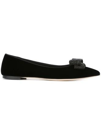 bow embellished black shoes