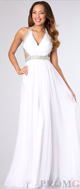 dress, white dress, prom, prom dress, long prom dress, white ...
