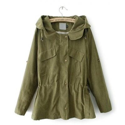 Hooded drawstring green army jacket · doublelw · online store powered by storenvy