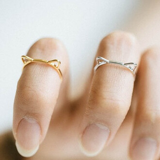 jewels accessories bikini luxe jewelry cat ears jewelry cat ears ring cat jewelry cat lovers jewelry cat ring dainty jewelry gold cat ears ring kitty ears ring kitty ring silver cat ears ring silver ring thin band ring thin ring dainty ring sterling silver rings