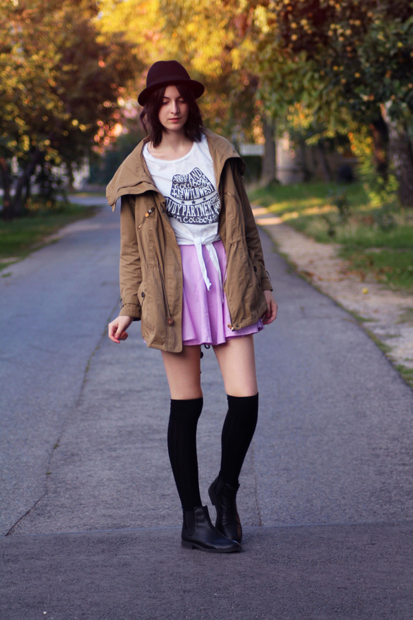 mes memos skirt t-shirt hat shoes