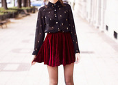 skirt,fashion,velvet skirt,velvet,red,red skirt,beautiful