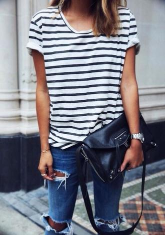 bag black dark blue dark blue bag black bag leather leather bag clutch jeans denim ripped jeans shirt