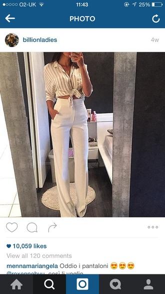 pants white ivory bootleg bell bottoms white high waist bell bottom pants