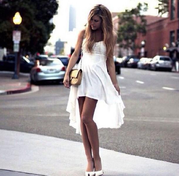 Dress White White Dress Hi Lo Mullet Mullet Skirt Mullet Dress Chiffon Hi Lo Skirt Hi Lo Dres Hi Lo Dress Hi Lo Skirt Hi Low Dress Hi Lo Wheretoget
