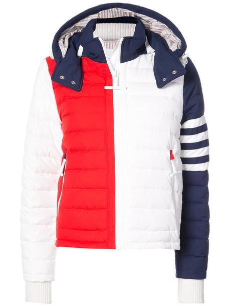 Thom Browne jacket matte women spandex white blue red