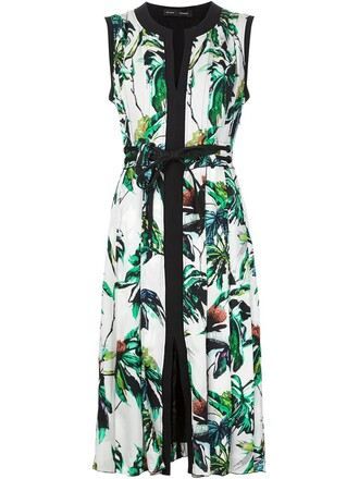 dress pleated dress pleated floral white