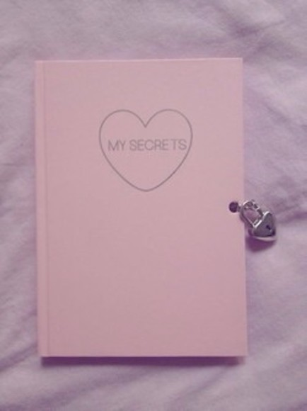cute heart notebook pink