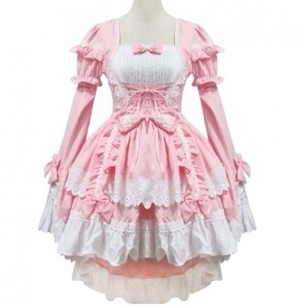 dress pink dress lolita dress lolita anime chobits cosplay costumes chobits chii cosplay chobits chobits chii dress pretty girly girly dress
