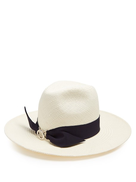 FEDERICA MORETTI hat straw hat white