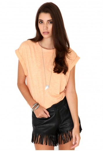 Renita Oversize Melange Tee- t-shirts- missguided