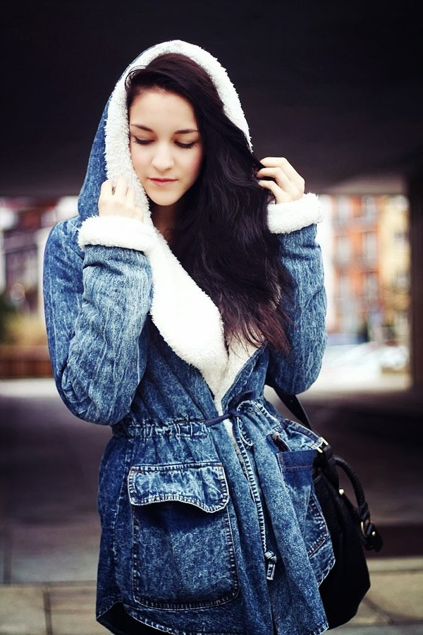 coat romwe blue