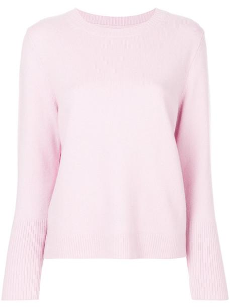 Chinti & Parker sweater women purple knit pink