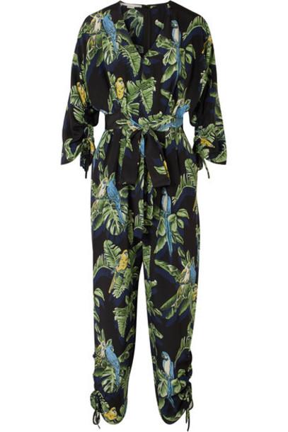 Stella McCartney jumpsuit silk green