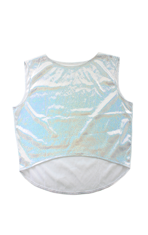 Silver Holographic Crop Top (LAST ONE), THE CULTLABEL