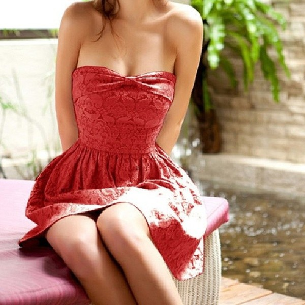 dress short red dress red formal homecoming long