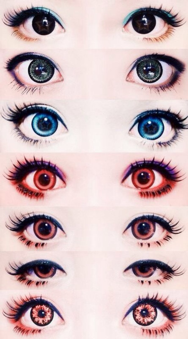 make-up contacts