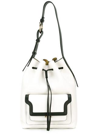 duffle bag bag leather white