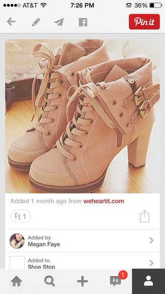 high heels straps boots lace up buckles Belt fold down zipper