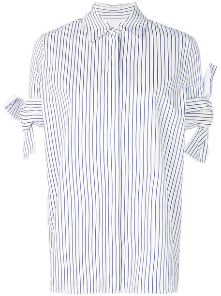 Victoria Victoria Beckham shirt striped shirt women white cotton top