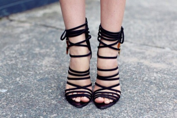shoes black heels strappy strappy heels strappy black heels