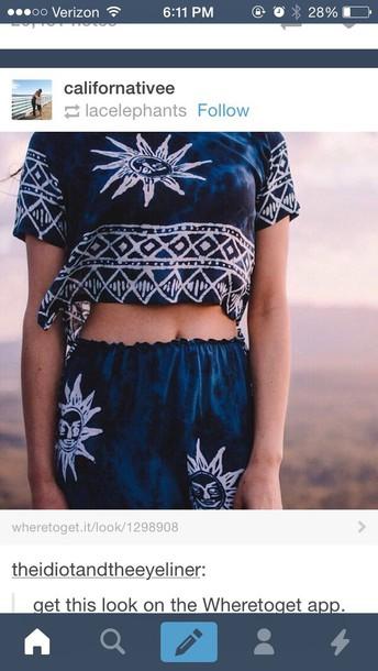 shirt blue suns
