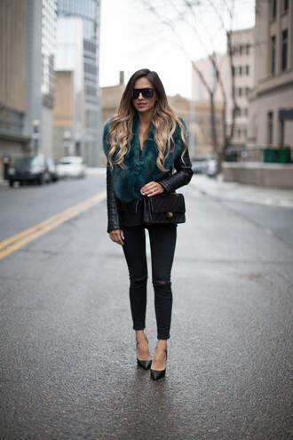 maria vizuete mia mia mine blogger fur scarf