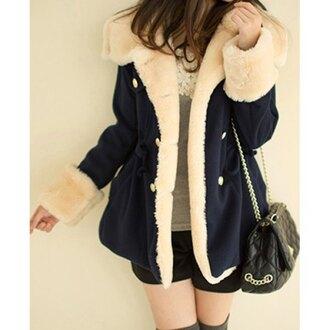 coat rose wholesale winter coat cozy winter outfits shearling jacket faux fur faux fur jacket winter jacket purse navy cream fur