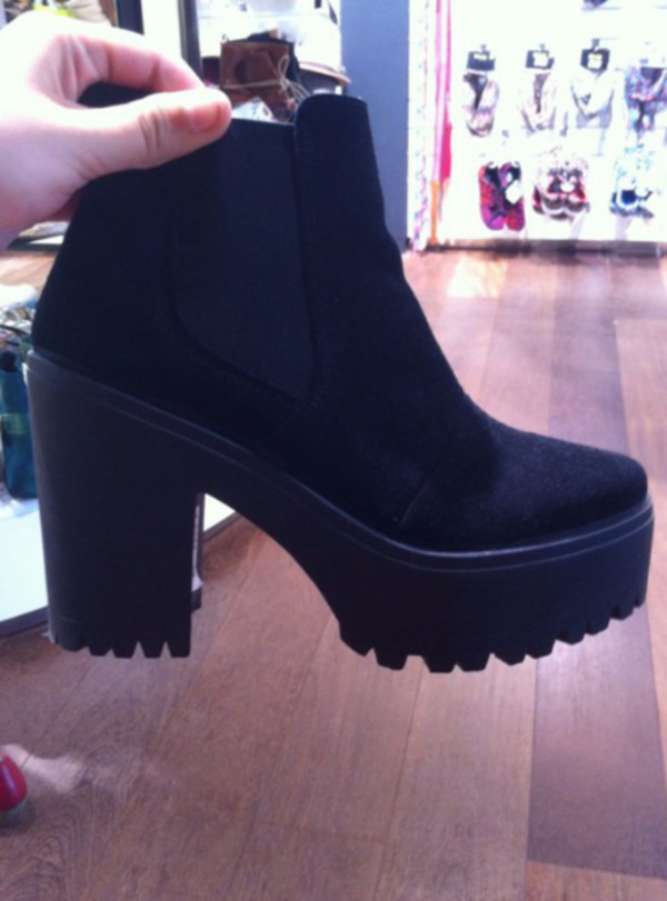 shoes black boots look a like