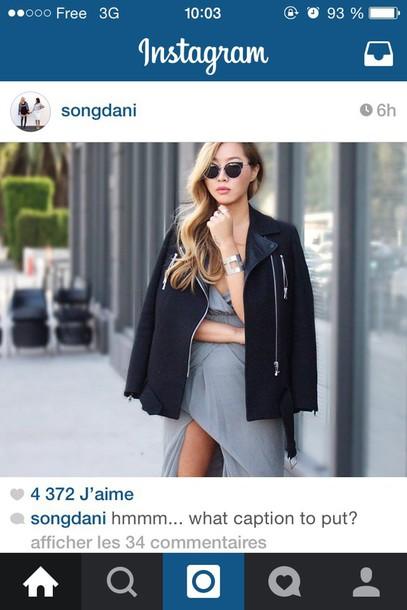 coat songdani blogger black jacket