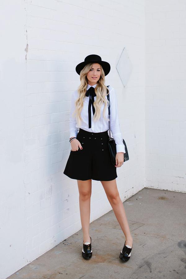 a little dash of darling blogger top blouse shorts bag shoes hat. 0d881e3a9b3
