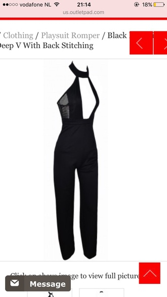 dress jumpsuit black black jumpsuit halter neck tight party outfits sexy sexy outfit summer outfits spring outfits fall outfits classy cute girly date outfit clubwear