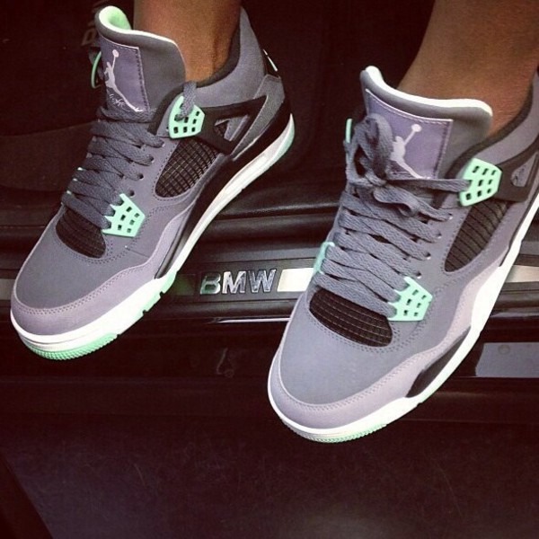 VMVinc - Nike Air Jordan IV Retro Green Glow GS