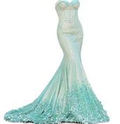 dress,the little mermaid,mermaid prom dress,mermaid dresses,mermaid,fancy,blue,green