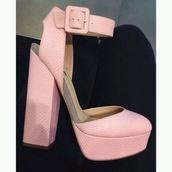 shoes,summer,pink heels classic pretty closed toe,closed toe