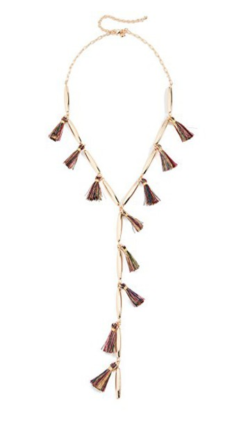 tassel necklace gold jewels