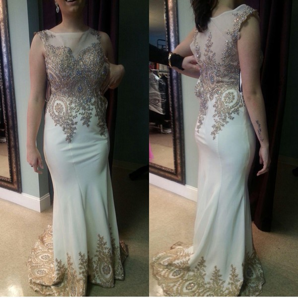 Aliexpress.com : Buy Real Picture Beaded Mermaid Long Prom Dresses ...