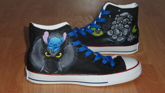 shoes lilo and stitch stitch how to train your dragon high top sneakers customized toothless