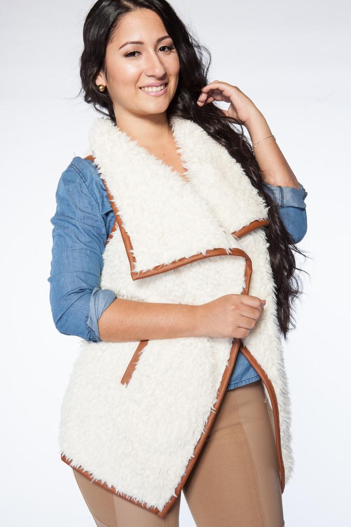 Cuffin' season vest – model citizen