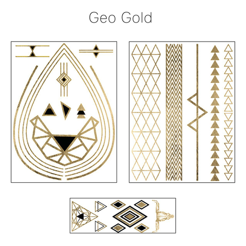 Geometric Gold Tribal Collection Fashion Tats