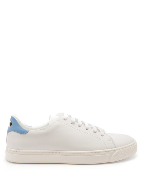 Anya Hindmarch top eyes leather white blue