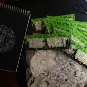 home accessory,teen's vomit,handmade,stickers