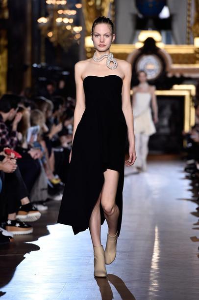 dress strapless fashion week 2015 necklace